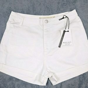 ASOS High Rise White Shorts by Brave Soul London